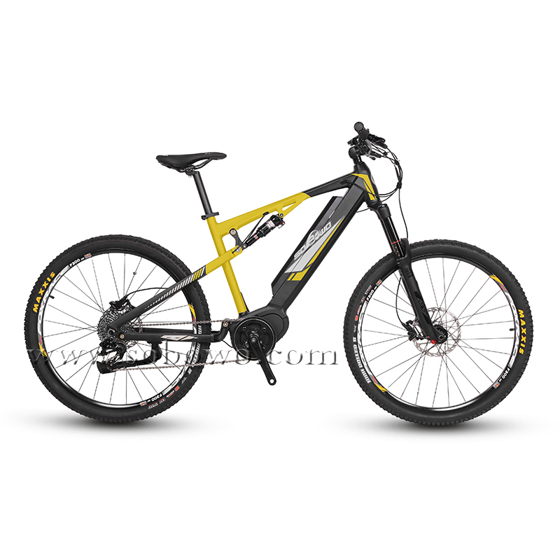 Full Suspension Mid Drive Electric Mountain Bike for Sale