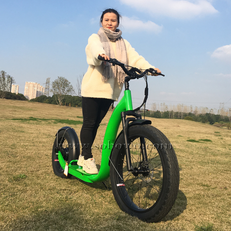 SOBOWO S78 750 Watts Powerful Hub Motor with Hidden Battery Fat Tyre Electric Scooters