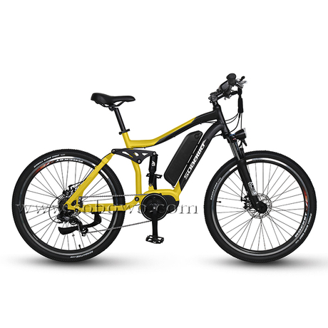 27.5'' Full Suspension Bafang Mid Drive Electric Mountain Bike for Sale